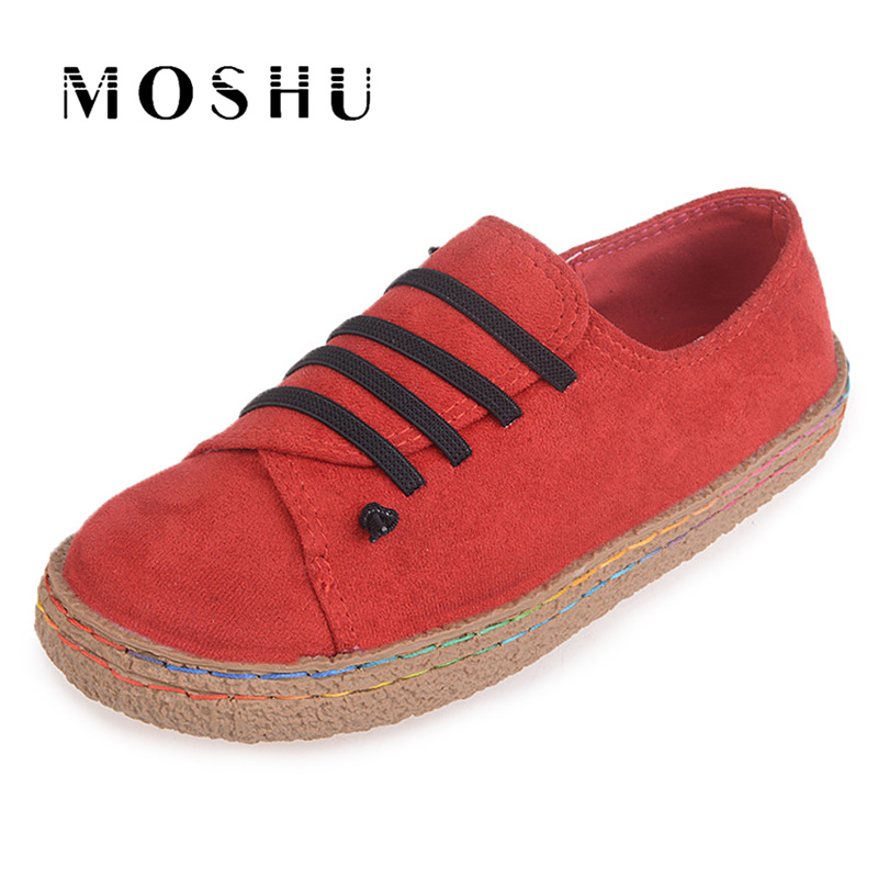 Designer Women Casual Shoes Lace Up Thicken Sneakers Round Toe Ladies Flats Shoes Footwear Plus Size 35-42 instantarts women casual flats shoes ladies skull flower printed light air mesh fashion sneakers girl lace up shoes plus size