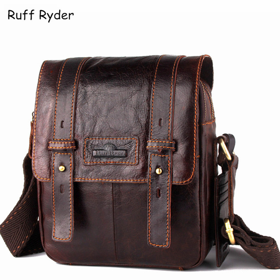Подробнее о Ruff Ryder 2017 New Men Bag Genuine Cowhide Leather Crossbody Shoulder Bag Top Quality Fashion Men Travel Messenger Bags For Man top genuine cowhide leather men bags male small messenger bag fashion crossbody shoulder bag men s vintage travel new bag bolsa