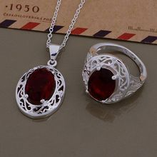 As549 Горячая 925 серебро Ювелирные наборы кольцо 377+ Цепочки и ожерелья 878/avlajmsa bbyajtfa
