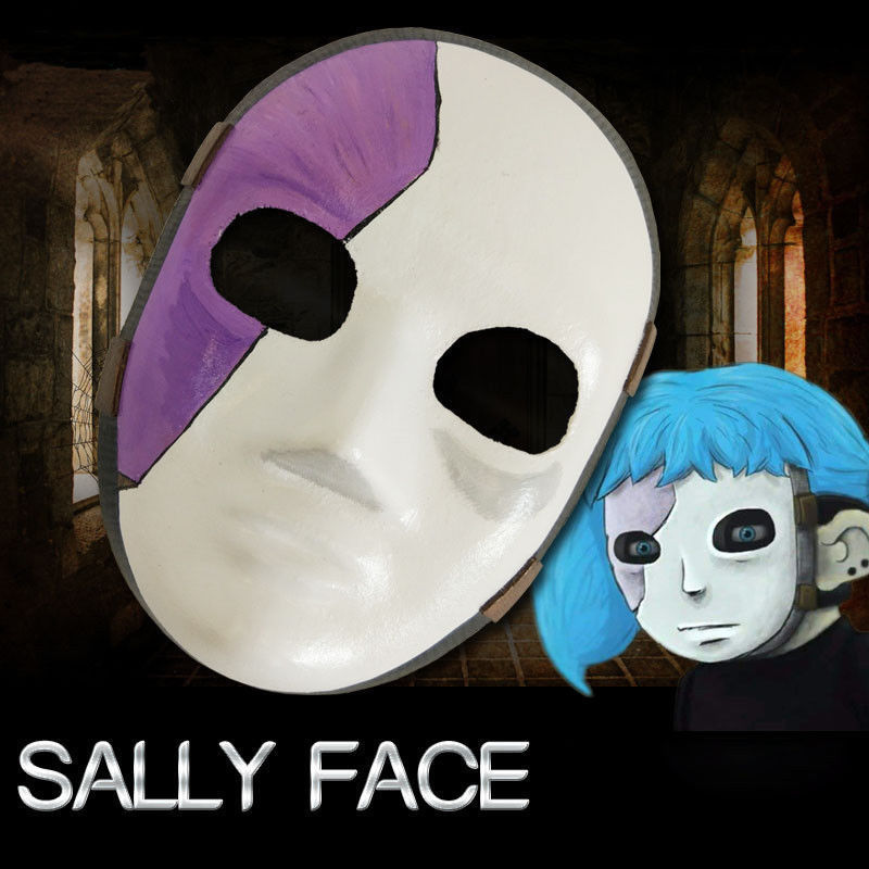 Game Sally Face Cosplay Costume Mask Sally Masks Accessories Prop