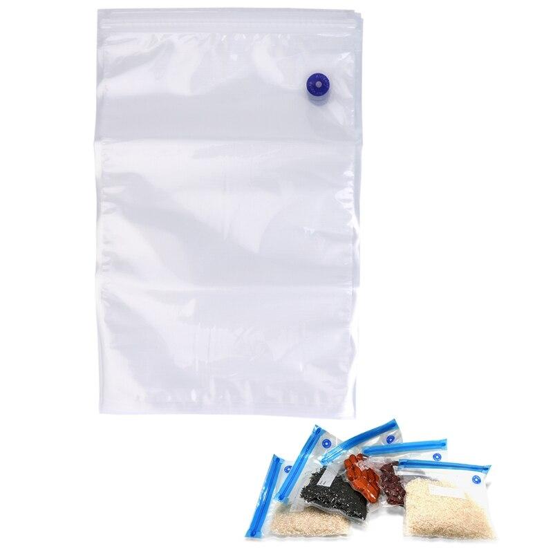 5pcs Lot Reusable PE Vacuum Bag Food Storage Bags Zipper Fresh-keeping 26x40CM 4pcs silicone reusable food fresh keeping plastic wrap