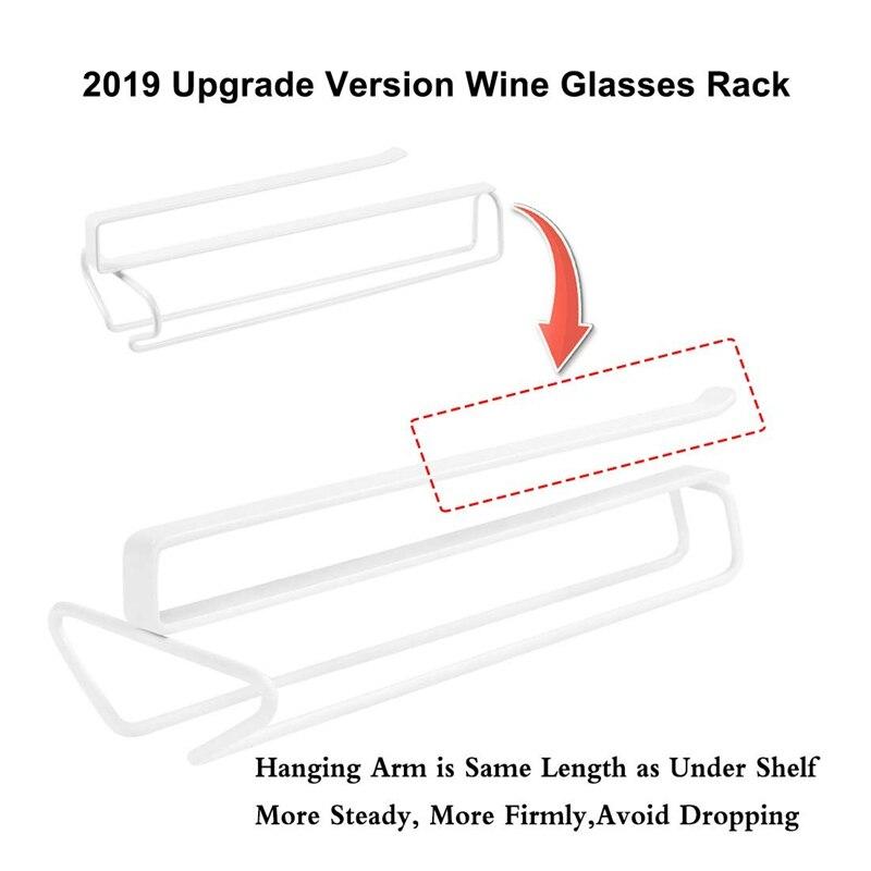 Фужеров бокал для вина, кружка вешалка держатель под шкаф полки для хранения без отверстия для Кухня комплект из 2 предметов