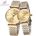 Relojes Mujer moda de nueva hombres clásicos vestido reloj 30 M resistente al agua lleno acero inoxidable reloj hombre Relojes de cuarzo 8973A