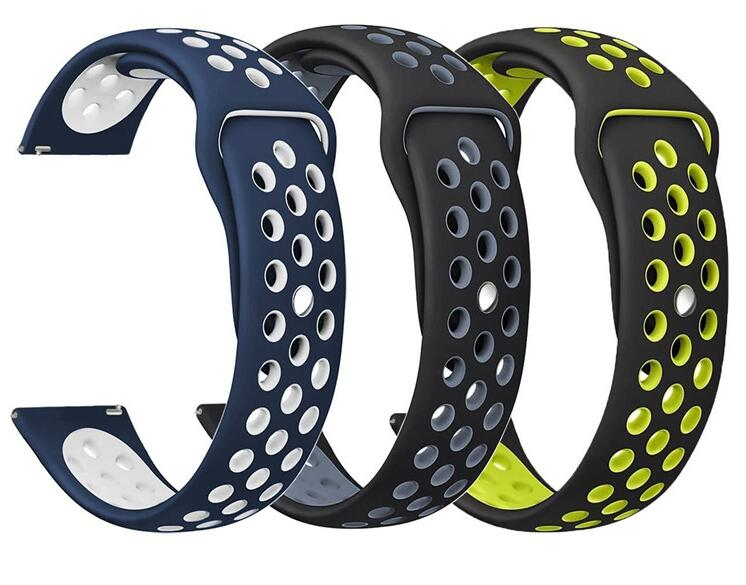 Silicone Strap Ticwatch 1 2 E Pro For Samsung Galaxy Watch Active 42 46 S2 S3  Live Neo Huami Amazfit 2s 1 Bip Pace Sport Band