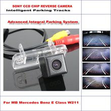 Intelligent Parking Tracks Rear View Camera For Mercedes Benz E Class W211 2002-2008 – Reverse Back Up Camera / NTSC PAL CCD