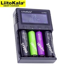 Carregador de bateria lcd liitokala Lii PD4, carregamento 18650 18350 18500 16340 21700 10440 v aa aaa nimh bateria.