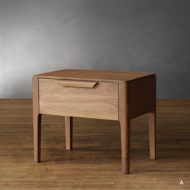 Modern Chinese Elm Wood Bedroom Home Locker Small Cabinet Bedside Cabinet /  Coffee Table / Side