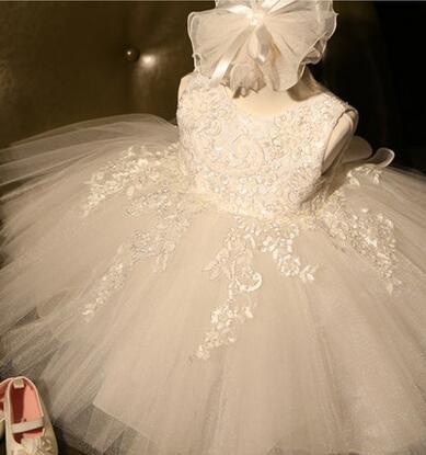 Luxurious Wedding Dresses Ball Gown Vestido De Festa Infantil Sweet Bow Decoration Carved Embroidery Evening Dress For Girls вечернее платье mermaid dress vestido noiva 2015 w006 elie saab evening dress