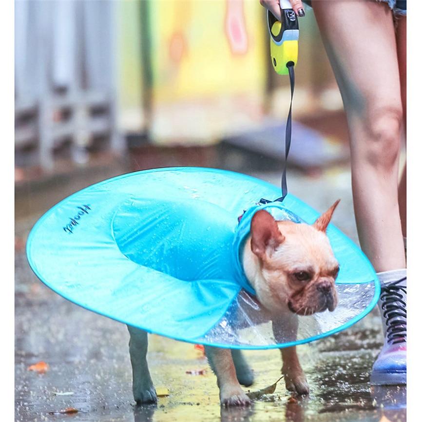 Bello Vestiti Del Cane Cane Impermeabile Impermeabile Mantello Ombrello All-inclusive Pet Poncho Dropshipping Luglio #5 Perfetto Nella Lavorazione