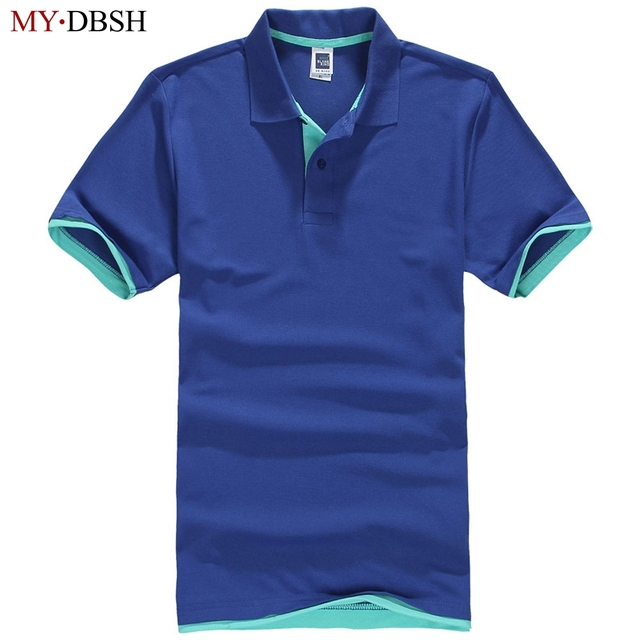 8613846c197 2019 Fashion British Style Polo Shirts Men elastic cotton Short Sleeve  Solid Polo Shirt Men s Casual Dress Brand Free Shipping