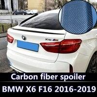 Для 2016 2018 BMW X6 серия X6 F16 спойлер BMW X6 por fibra де carbono спойлер X6 trasero tronco Аля спойлер cola углеродного волокна