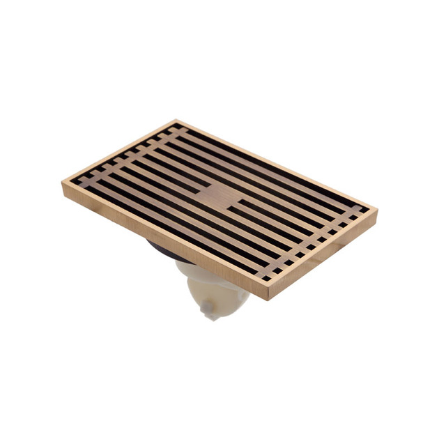 Antique Wired Bathroom Linear Shower Drain Floor Drainer Waste Grate With Strainer  Cover 3712105L