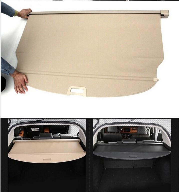 Aluminium alloy + Fabric Rear Trunk Security Shield Cargo Cover For Mitsubishi Outlander 2007 2008 2009 2010 2011 2012