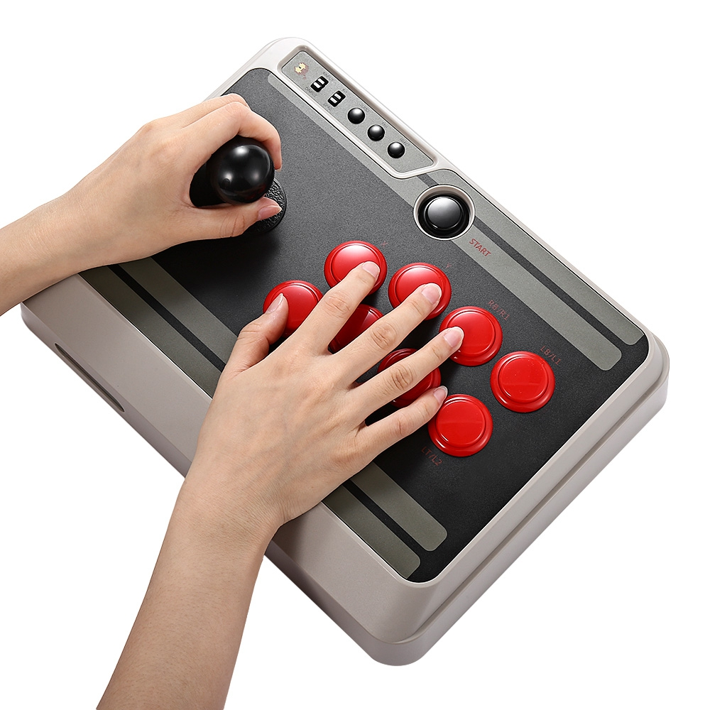 8Bitdo N30 Customizable Bluetooth Arcade Game Stick Joystic Wireless Bluetooth Game Controller Gamepad for iOS Android