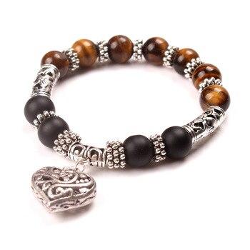 Chakra Beaded Bracelet for Women Bracelets Jewelry Women Jewelry Metal Color: brown