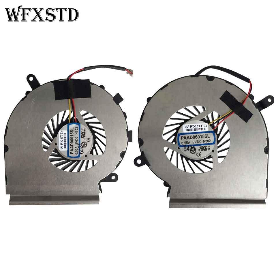 MSI 6QF GE60 GE62 GE72 GL62 GL72 PE60 PE70 MS-16GA CPU /& GPU Fan Righ Left  Pair