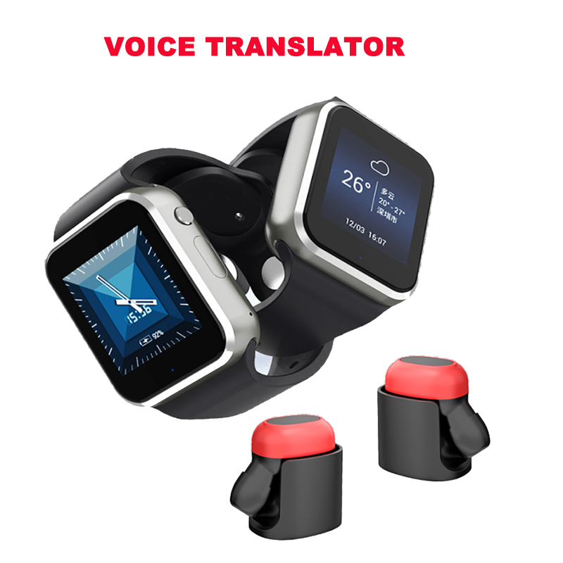 US $108 41 31% OFF|New muama enence smart portable voice translator tourism  real time language translator wearable devices with bluetooth headset-in