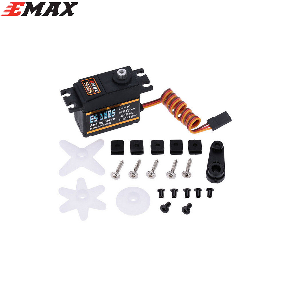 1pcs Emax ES3005 Analog Metal Waterproof Servo with Gears 43g servo 13KG torque for RC car boat airplane savage gear prey40