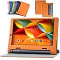 Ímã Inteligente Fique PU Caso Capa de couro Para Guia Lenovo YOGA 3 X50L X50M X50F YT3-X50F YT3-X50M YT3-X50L Tablet Casos de Cobertura de Flip