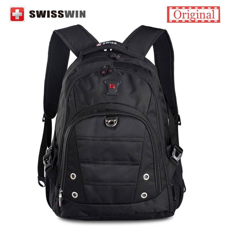 Swisswin Brand Fashion School font b Backpack b font For Teenage Boys Swissgear Waterproof 15 6