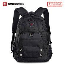 Marca Swisswin Swissgear Mochila Escuela de Moda Para Adolescentes Impermeable 15.6 Hombres Mochila Portátil Mochila Bolso de Las Mujeres de La Taleguilla