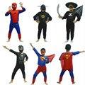 Venta caliente Niños Superhéroe Capitán Superman Spiderman Batman Zorro de Halloween Disfraces Cosplay Para Los Niños Los Niños Boy fantasias