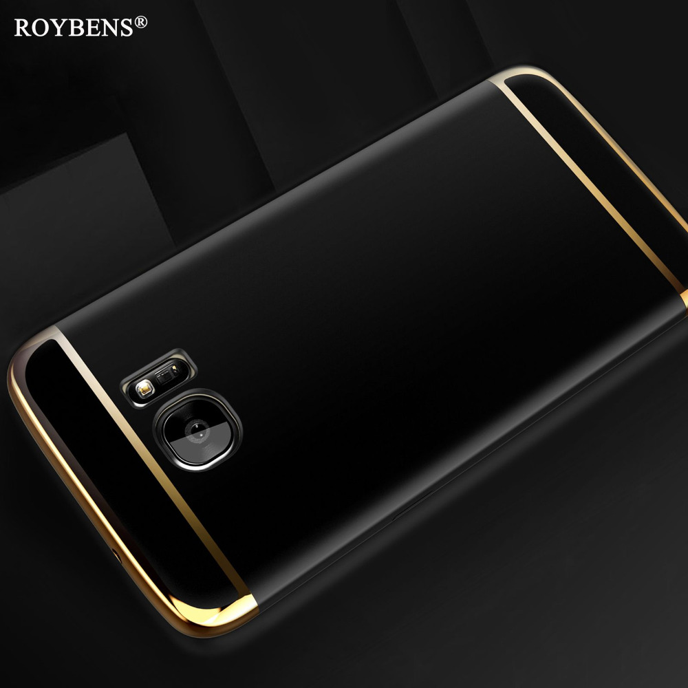 S7 / Edge Case Luxury Hard PC 3 in 1 Hybrid Case For Samsung Galaxy S7 Edge Slim Matte Bling Arc Armor Full Back Plastic Cover