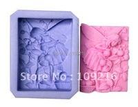 En gros!!! 1 pcs Belle Faery avec Cueillir les Fruits (R0952) Handmade Soap Moule En Silicone Artisanat DIY Moule