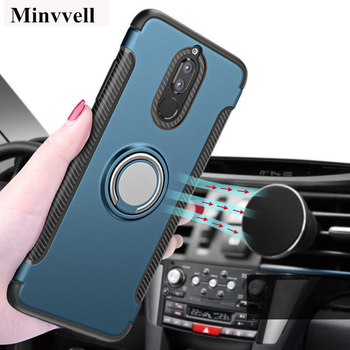 For Huawei Mate 10 Lite Nova 2 Luxury Magnetic Car Holder Cover For P8 Lite 2017 P10 Plus P20 Pro Armor Stand Case Honor 8 9 7X image