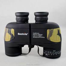 military Boshile 10X50 binoculars Telescope HD professional waterproof BAK4 prismaticos Rangefinder Distance hunting 2 colors цены