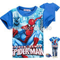 Spiderman Boys T Shirt Fashion Summer Short Sleeve Boys T-shirt Toddler Baby Kids Tops Tees Children Clothes 3-8Y