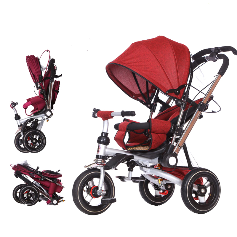 Multifunction 2 in1 Lightweight folding two-way push three-wheeled trolley baby bicycle pushchair Childrens bicycle1-6YMultifunction 2 in1 Lightweight folding two-way push three-wheeled trolley baby bicycle pushchair Childrens bicycle1-6Y