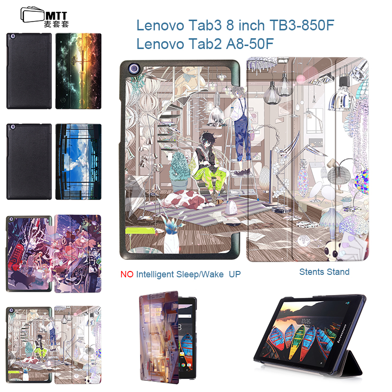 MTT Anime Sky for Lenovo Tab3 8 inch TaB3 850M 850F Tablet Case For Lenovo Tab 2 A8-50F A8-50LC Magnet Stand PU Leather Cover ultra slim flip with magnetic pu leather folding stand cover case for lenovo tab 2 a8 50 a8 50f a8 50lc 8 0 tablet case