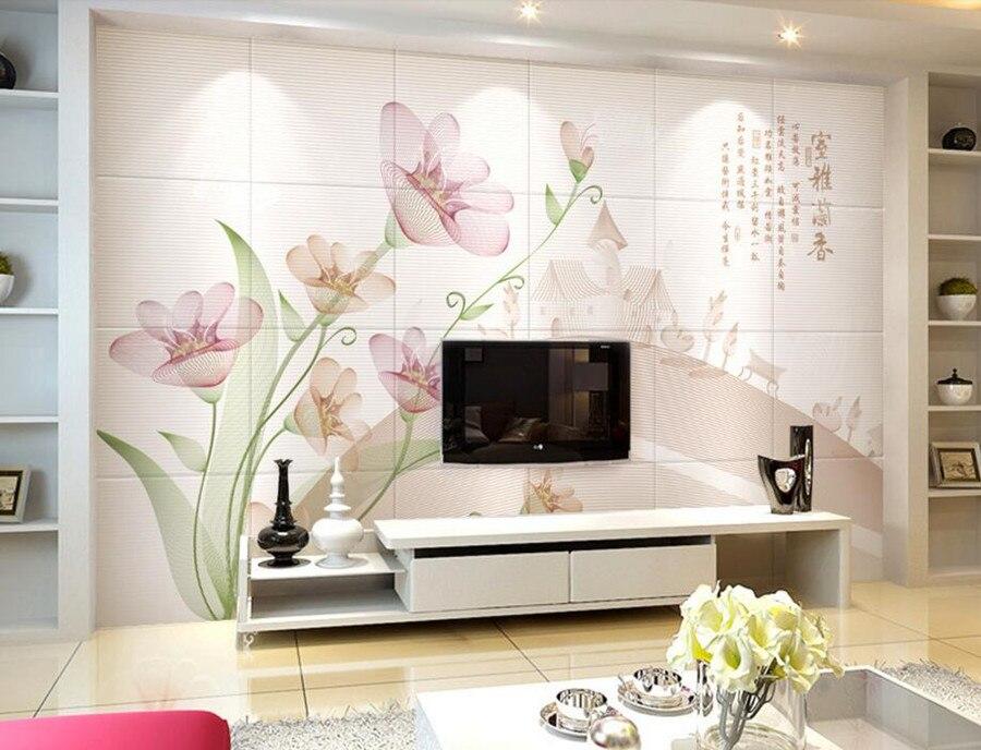 Online kopen wholesale orchidee muurschildering uit china for Donde venden papel mural