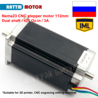 Nema 23 stepper motor Dual shaft 57x112mm 2.8N.cm 425 Oz in 4 wires 3A for 3D printer parts CNC engraving machine 23HS2430b