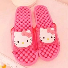 2pairs Quality Hello Kitty summer slippers Non-slip bathroom slippers girl birthday Gifts Sandals party favors