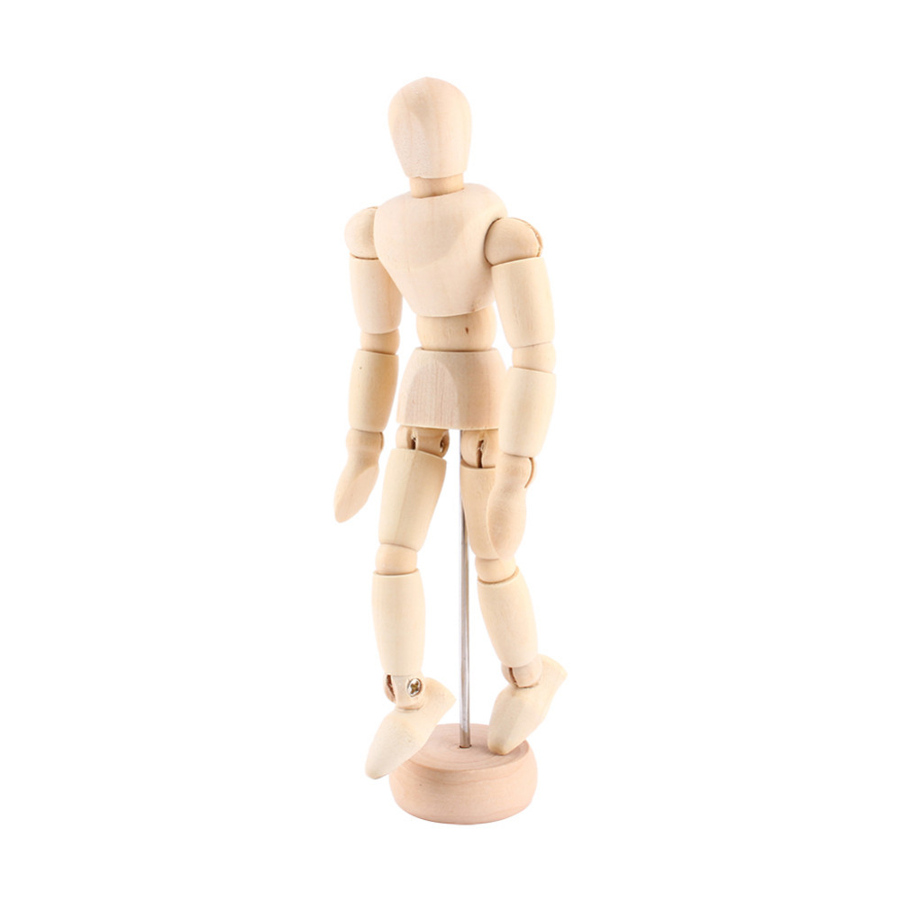 Action Figure Artist Movable Limbs Male Wooden Toy Figure Model Mannequin Art Sketch Draw Action Toy Figures Gift for Friends image