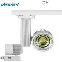 MORSEN 4pcs LED Track Light COB 20W Ceiling Rail Spotlight Black White Shell For Clothing Shoes