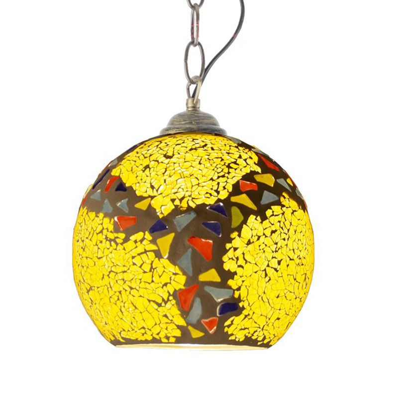 Fashion Mosaic Glass Balcony Pendant Lights Creative Hallway Entrance Pendant Light Restaurant Cafe Bar Pendant Lamps vintage bird pendant light glass pendant lights contemporary creative retro art glass cafe restaurant study lamps