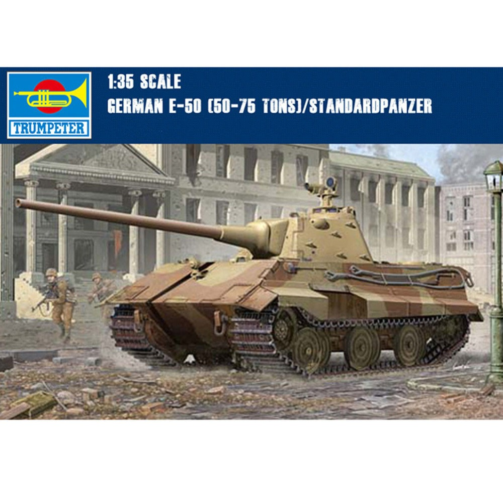 OHS Trumpeter 01536 1/35 German E50 50-75Tons Standardpanzer Scale Tank Assembly Model Building Kits oh realts trumpeter 1 35 01536 germany e50 tank kit build model