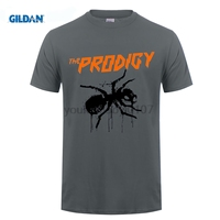 GILDAN Men Print THE PRODIGY EXPERIENCE White T Shirt THE PRODIGY Metal Rock Band Summer O