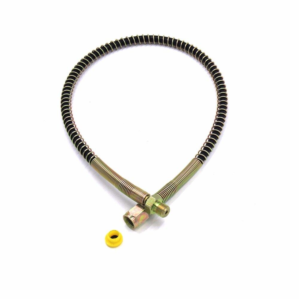 PCP Airforce Pneumatics Air Pump High Pressure Nylon Air Hose 50cm Hose W/ Spring Wrapped M10*1 Male X M10*1 Female Thread NHM10