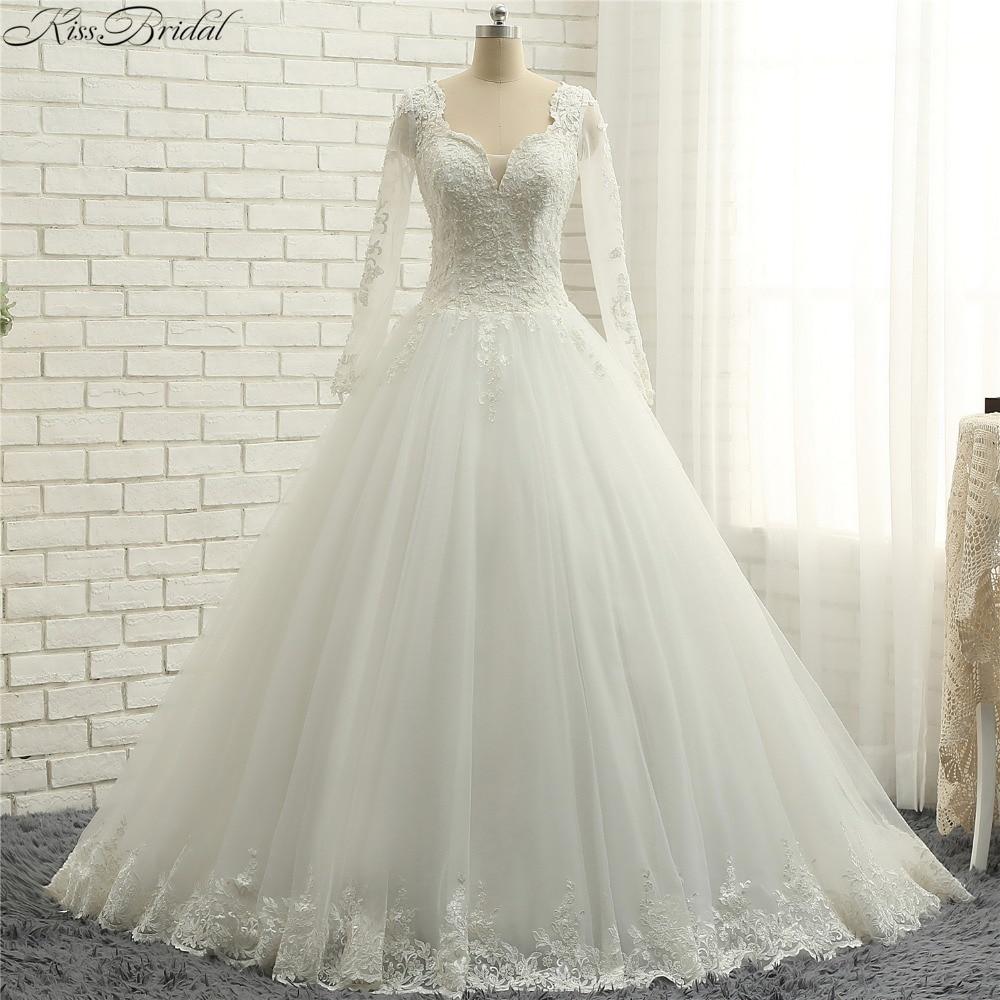 Latest Wedding Gowns Photos: Aliexpress.com : Buy Latest Style Long Sleeve Wedding
