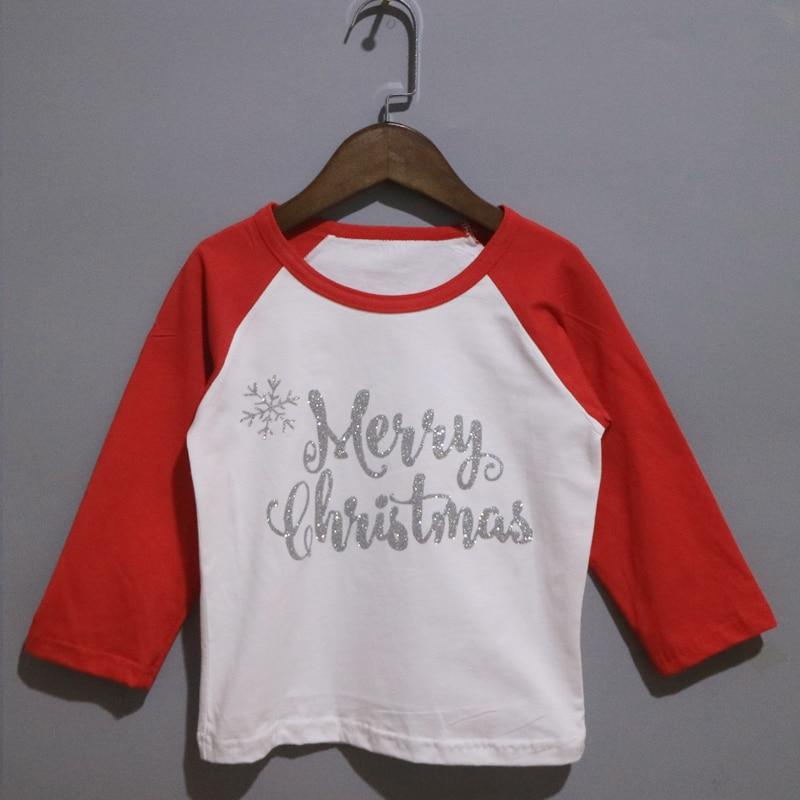 Glitter Weihnachten T shirt Kinder personalisierte shirts boy ...