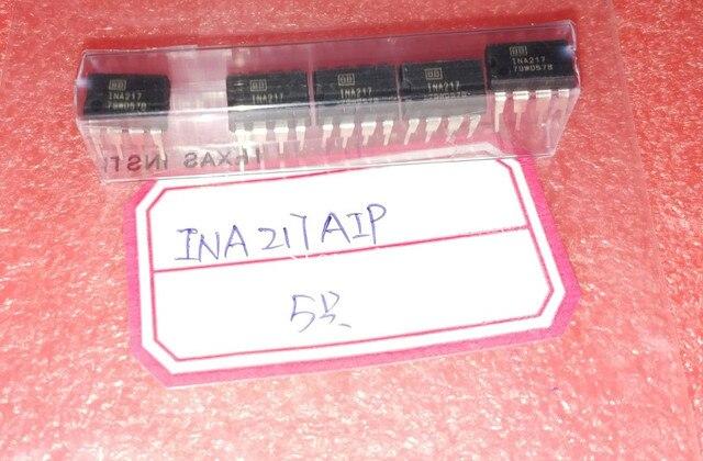 משלוח חינם! 5 יח\חבילה INA217AIP INA217 DIP8 INA217P מקורי אותנטי וחדש משלוח חינם