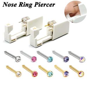 1 Unit Disposable Safe Sterile Piercing Unit For Gem Nose Studs Piercing Gun Piercer Tool Machine Kit Earring Stud Body Jewelry