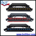 Full with 19 inch 12 core Drawer type optical fiber terminal box SC/FC/ST 12 port Pull type distribution frame patch panel