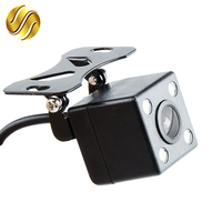 HD Video Waterproof Auto Parking Monitor 4 LED Night Vision Reversing CCD Car Rear View Camera