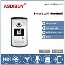 Wifi y conexión ethernet andriod y iOS teléfono operar Wifi impermeable teléfono video de la puerta con visión nocturna