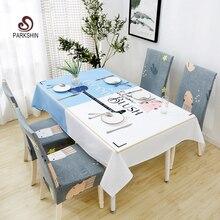 Parkshin 2019, mantel nórdico a la moda, impermeable, cocina, hogar, manteles rectangulares, cubierta de mesa de banquete, 4 tamaños